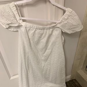 J Crew white off the shoulder dress!